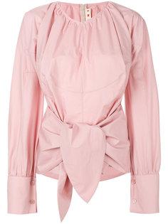 блузка с завязками на талии Marni