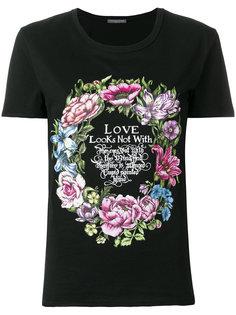 футболка с принтом венка Alexander McQueen