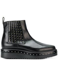 ботинки челси на платформе с заклепками Albano