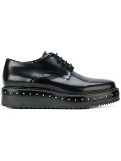 туфли на платформе с заклепками Albano