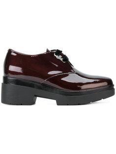 туфли со шнуровкой на платформе Albano