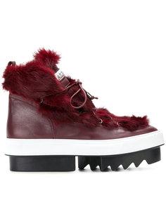 ботинки со шнуровкой на платформе Albano