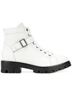 ботинки на шнуровке с ремешками Tosca Blu