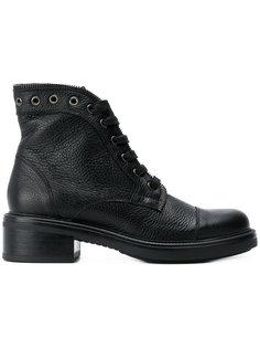 ботинки на шнуровке с молнией Tosca Blu