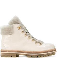 ботинки на шнуровке с меховой отделкой Agl