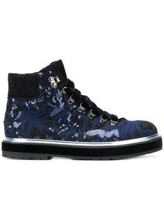 ботинки на шнуровке с пайетками Agl