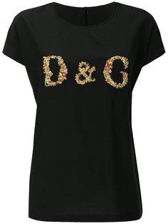 топ с вышитым логотипом Dolce & Gabbana