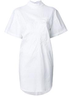 платье с вышивкой птицы Ioana Ciolacu