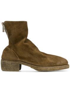 ботинки на массивном каблуке Guidi