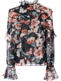 блузка с цветочным принтом Lola Nicholas