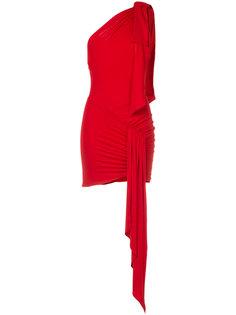 платье мини на одно плечо со сборками Alexandre Vauthier