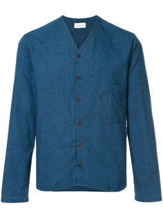джинсовая рубашка с V-образным вырезом  Lemaire