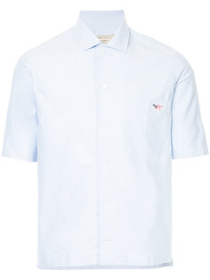 оксфордская рубашка с короткими рукавами  Maison Kitsuné
