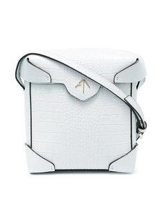 сумка через плечо с эффектом крокодиловой кожи Manu Atelier