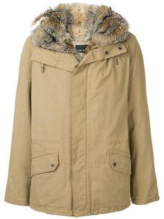 пальто на молнии с капюшоном  Yves Salomon Homme