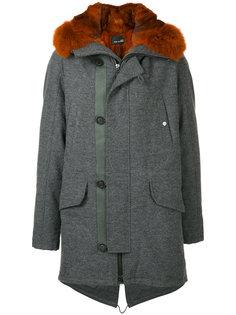 пальто на молнии  Yves Salomon Homme