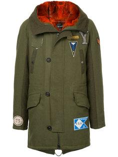 пальто с аппликацией  Yves Salomon Homme