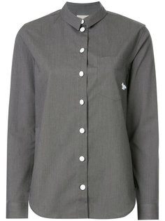 классическая однотонная рубашка  Maison Kitsuné