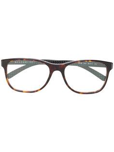 квадратные очки с черепаховым узором  Bulgari