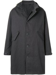 пальто на пуговицах с капюшоном Lemaire