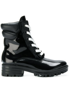 лакированные байкерские ботинки Kendall+Kylie