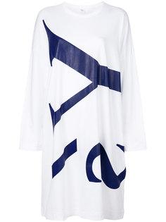 платье-футболка с принтом логотипа Ys Y`s