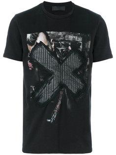 футболка с принтом RH45