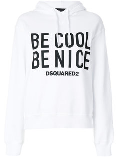 Be Cool slogan hoodie Dsquared2