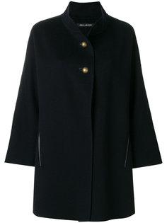 buttoned neck cape Iris Von Arnim