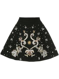декорированная юбка А-образного силуэта Fausto Puglisi