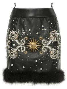 декорированная юбка миди Fausto Puglisi