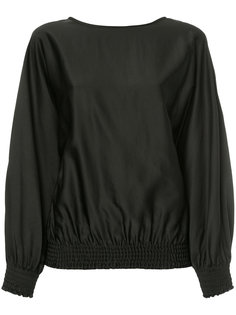 блузка со сборками на подоле и манжетах Astraet