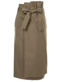 юбка с запахом и необработанными краями Astraet