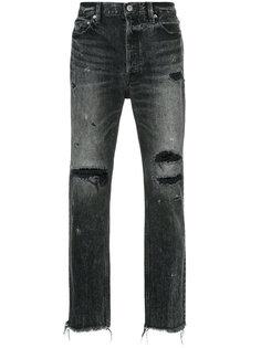 джинсы скинни с рваными деталями Red Card