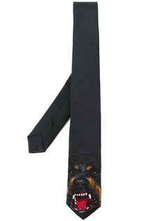 галстук с вышивкой ротвейлера Givenchy