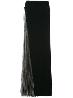 юбка с плиссировкой из ткани ламе Mugler