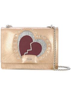 сумка на плечо с нашивкой в форме разбитого сердца Gum