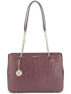 сумка-шоппер с тиснением под крокодила DKNY