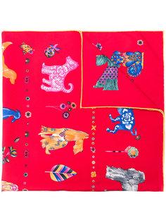 шарф с принтом собак Salvatore Ferragamo