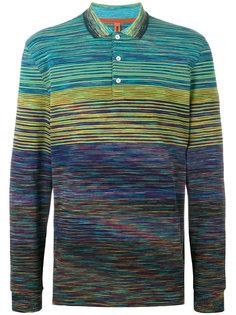 рубашка-поло с узором и длинными рукавами Missoni