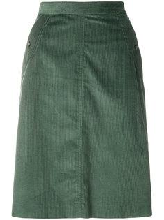 вельветовая прямая юбка A.P.C.