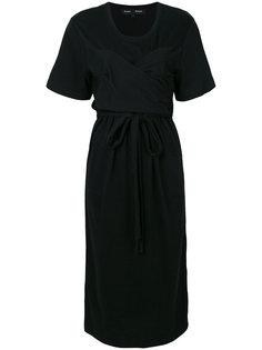 драпированное платье с поясом на талии Proenza Schouler