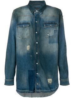 джинсовая рубашка с рваными деталями Super Légère