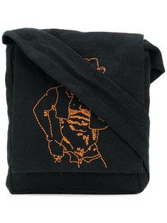 сумка на плечо с вышивкой Bernhard Willhelm