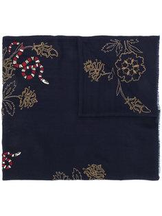 шарф с вышивкой змей Janavi