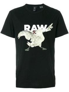 футболка с принтом лебедя G-Star