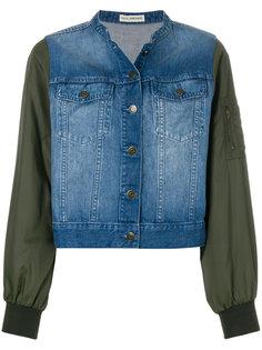 укороченная джинсовая кутка с рукавами в стиле куртки-бомбер  Ulla Johnson