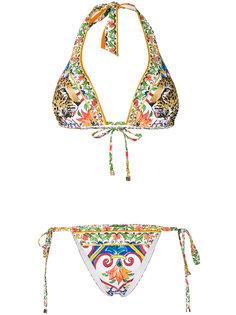 бикини с принтом Dolce & Gabbana