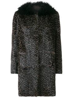 пальто с леопардовым узором Salvatore Santoro