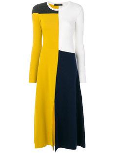 асимметричное платье дизайна колор-блок Cédric Charlier